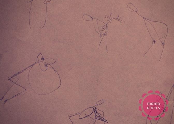 weeën dansen tekening