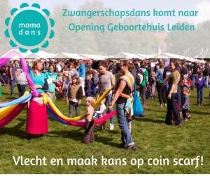 aankondiging zwangerschapsdans geboortehuis Leiden